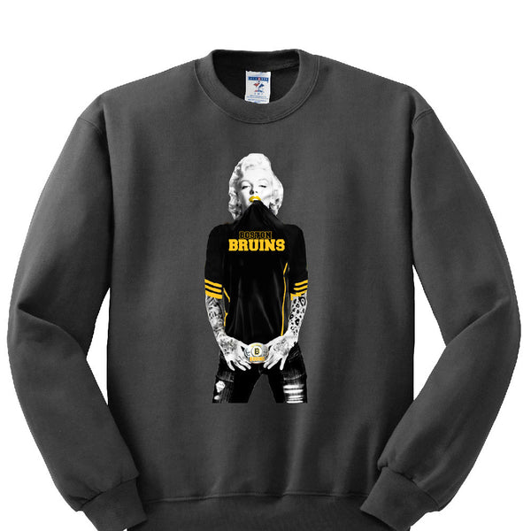 06d5d90316f Marilyn Monroe Bruins Sweatshirt Sports Clothing