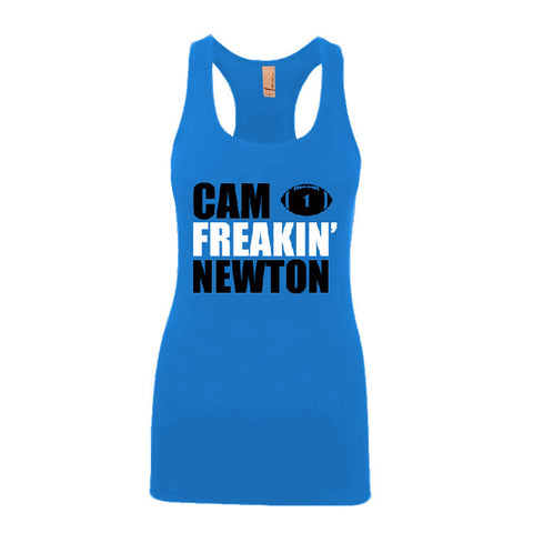 Cam Freakin' Newton Panthers Ladies Jersey Racerback Tank Top Sports Clothing