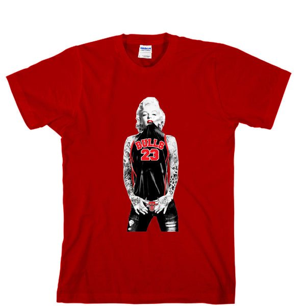 Marilyn Monroe Chicago Bulls Full Unisex T-shirt Sports Clothing