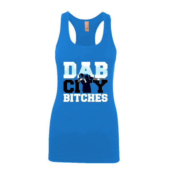Dab City Bitches Panthers Ladies Jersey Racerback Tank Top Sports Clothing