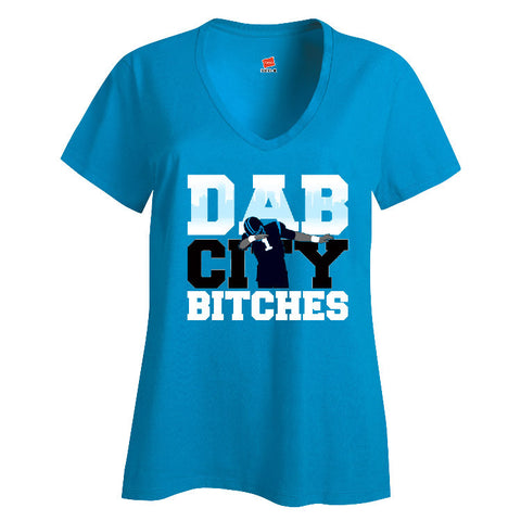 Dab City Bitches Panthers Ladies V-neck T-shirt Sports Clothing