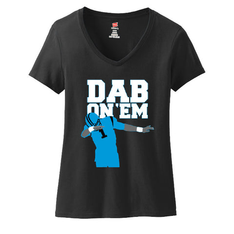Dab On 'EM Cam Panthers Ladies V-neck T-shirt Sports Clothing