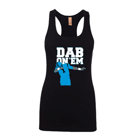 Dab On 'EM Panthers Ladies Jersey Racerback Tank Top Sports Clothing