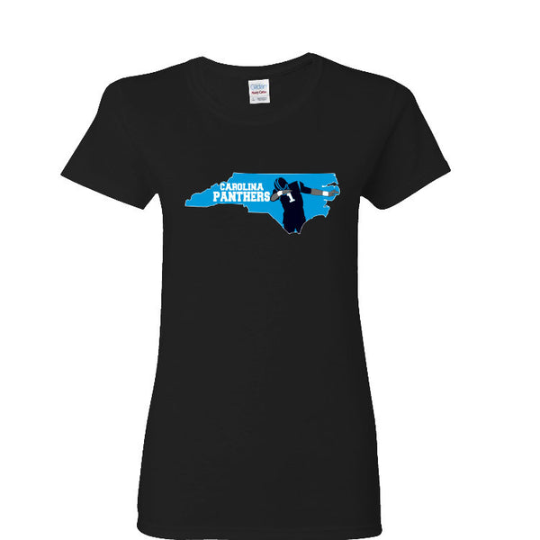 Map Cam Carolina Panthers Ladies T-shirt Sports Clothing