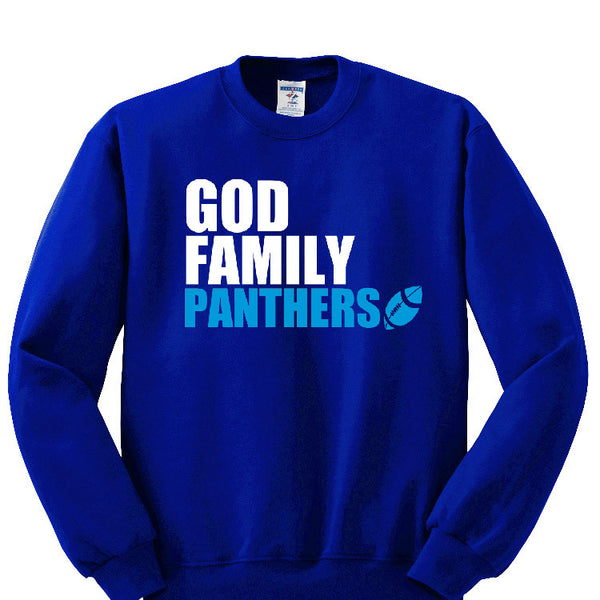 God, Family, Panthers Sweatshirt Sports Clothing