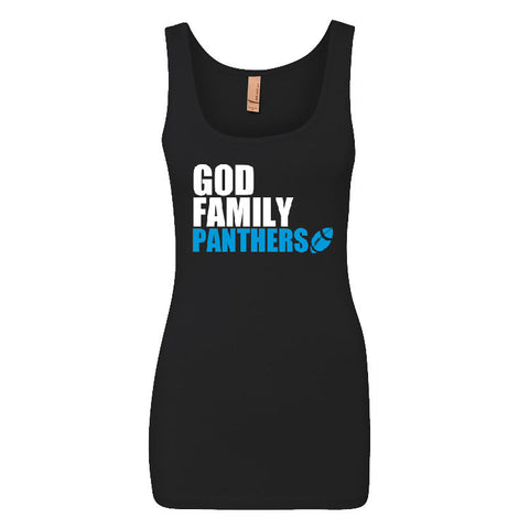 God, Family Panthers Ladies Jersey Tank Top Sports Clothing