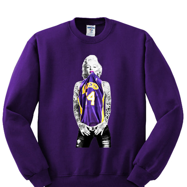 Marilyn Monroe Lakers Sweatshirt Sports Clothing