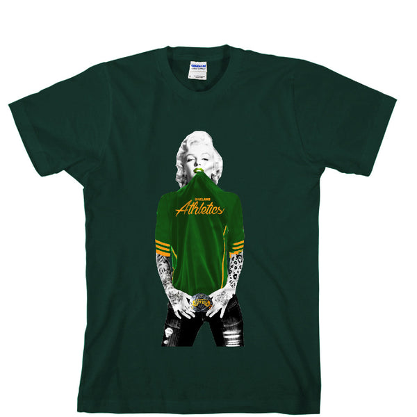 Marilyn Monroe Oakland A's Unisex T-shirt Sports Clothing