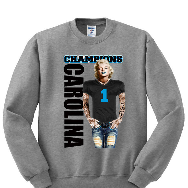 Marilyn Monroe Champions Panthers Sweatshirt Sports Clothing