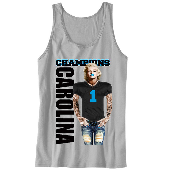 Marilyn Monroe Champions Panthers Unisex Tanks Sports Clothing