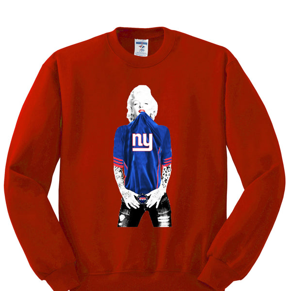 Marilyn Monroe NY Giants Sweatshirt Sports Clothing