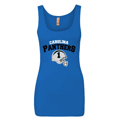 Carolina Panthers Helmet Ladies Jersey Tank Top Sports Clothing