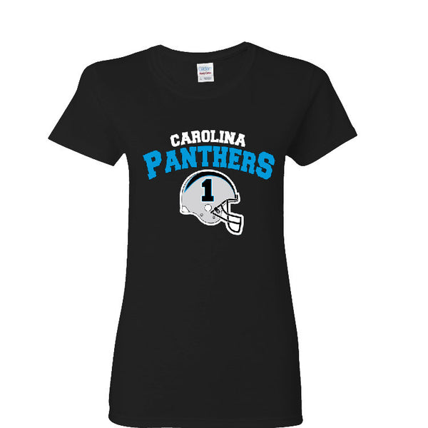 Carolina Panther Helmet Ladies T-shirt Sports Clothing