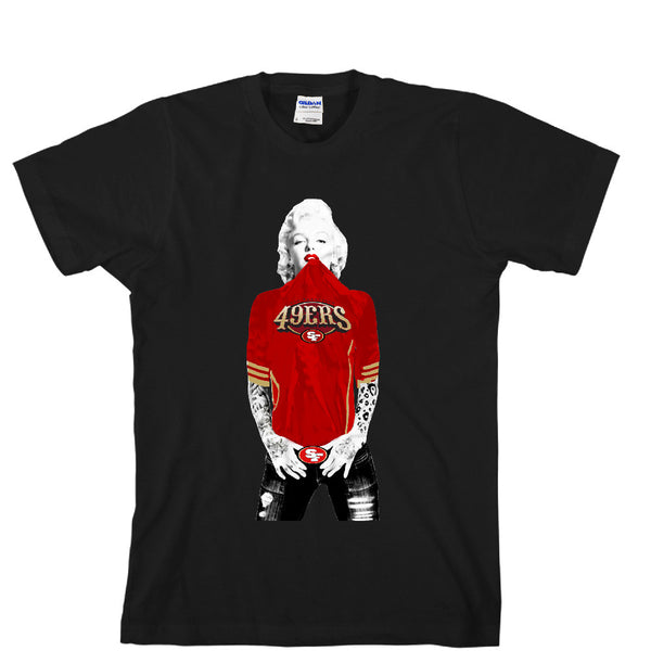 Marilyn Monroe SF 49ers Unisex T-shirt Sports Clothing