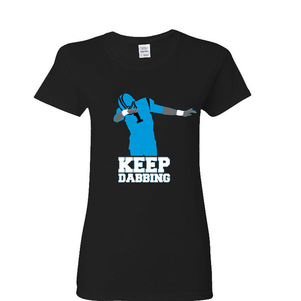 Keep Dabbing Carolina Panther Ladies T-shirt Sports Clothing