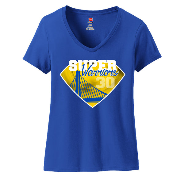 Super Warriors Ladies V-neck T-shirt Sports Clothing