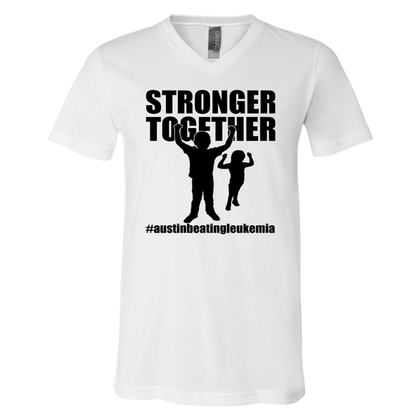 Stronger Together - Austin Beating Leukemia Unisex Adult V-neck Tee