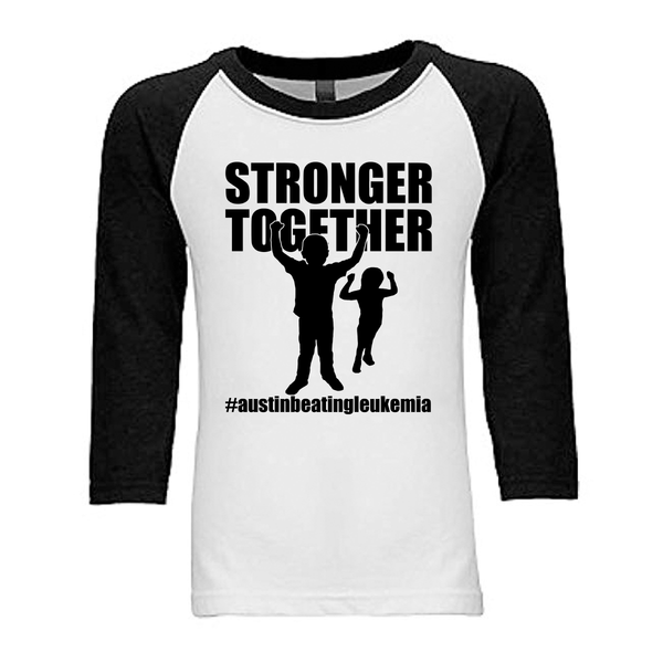 Stronger Together - Austin Beating Leukemia Unisex Adults - Kids Baseball Tee