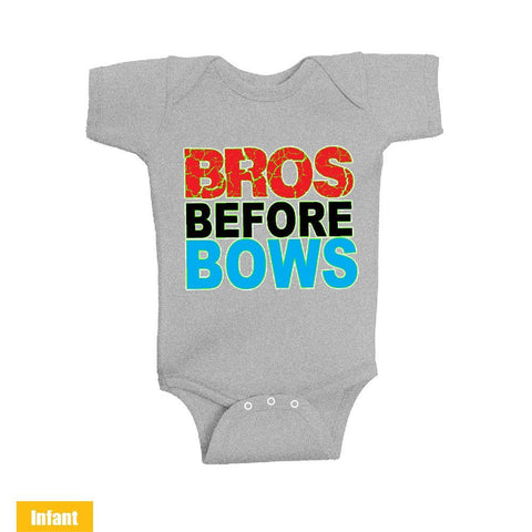 Bros Before Bows - Infant Lap Shoulder Bodysuit