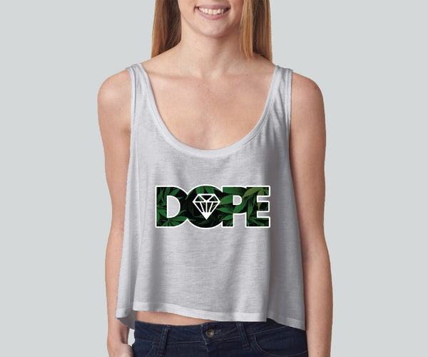 Dope Weed girly boxy tank top Funny and Music