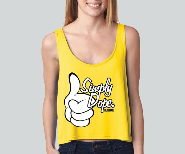 Simply Dope girly boxy tank top Funny and Music