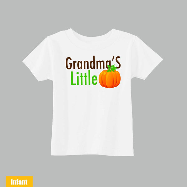 Halloween Cute Infant/Toddler T-shirt - Grandma's Little Pumpkin - Very Cute for the cutest baby ever - WE DO CUSTOM