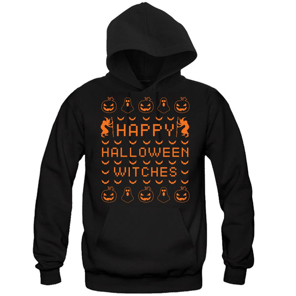 Happy Halloween Witches Hooded Sweatshirt - Great Gift for the Halloween