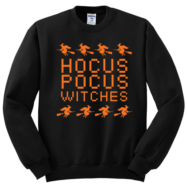 Hocus Pocus Witches Halloween Crewneck Sweatshirt. Awesome Gift for Halloween