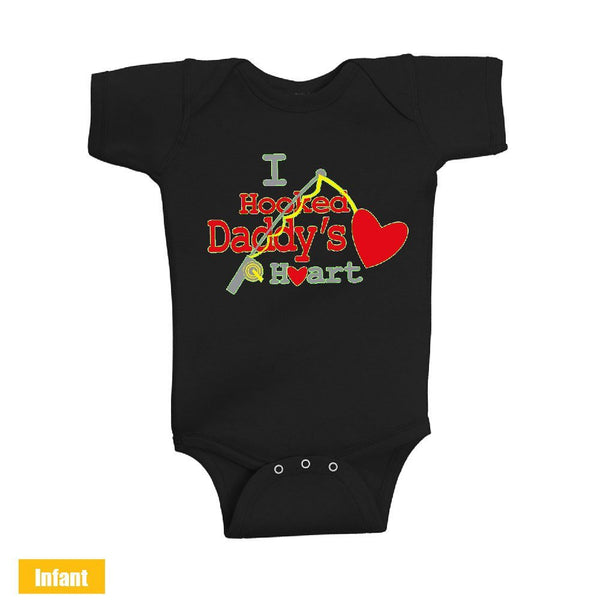 I Hooked Daddy's Heart - Infant Lap Shoulder Bodysuit