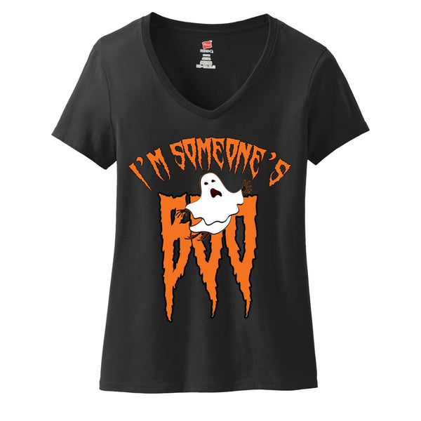 I'm Someone's Boo halloween Ladies V-Neck T-shirt - Great Gift For The Halloween