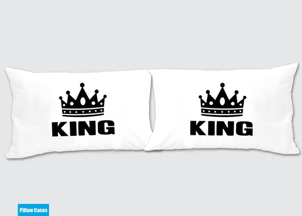 King - King Gay Matching Pillow Cases - Awesome Gift for cute couples - Price is for 2 Pillow cases