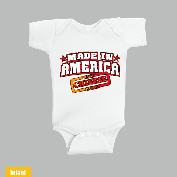 Made in America With Chinese Parts - Infant Lap Shoulder Bodysuit