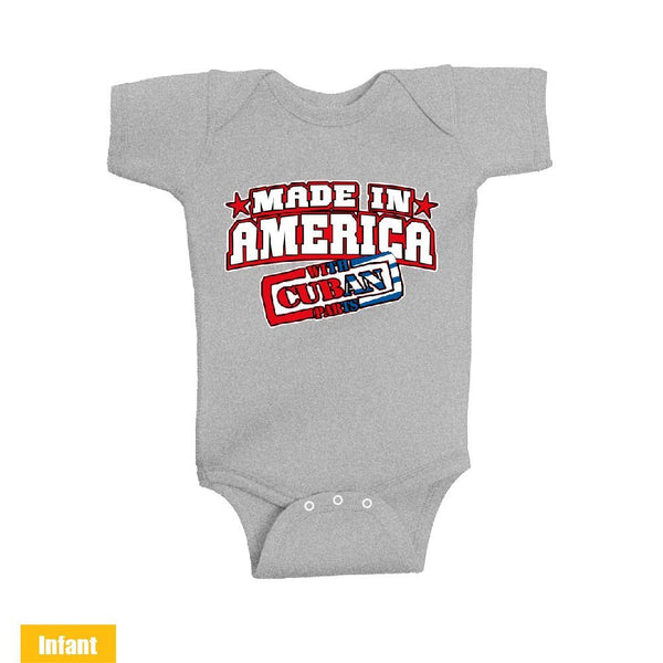 Made in America With Cuban Parts - Infant Lap Shoulder Bodysuit