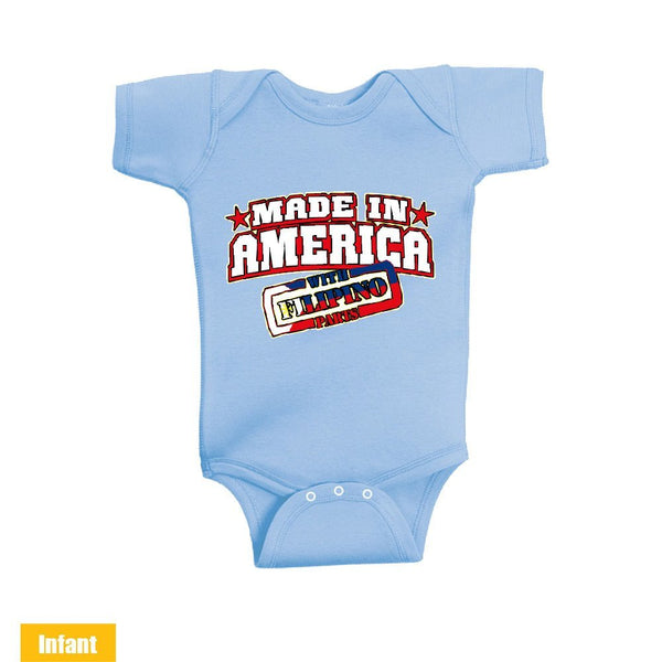 Made in America With Filipino Parts - Infant Lap Shoulder Bodysuit