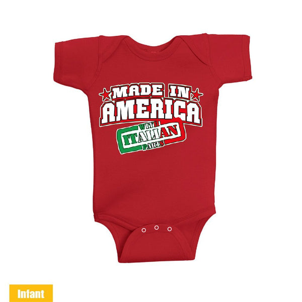 Made in America With Italian Parts - Infant Lap Shoulder Bodysuit