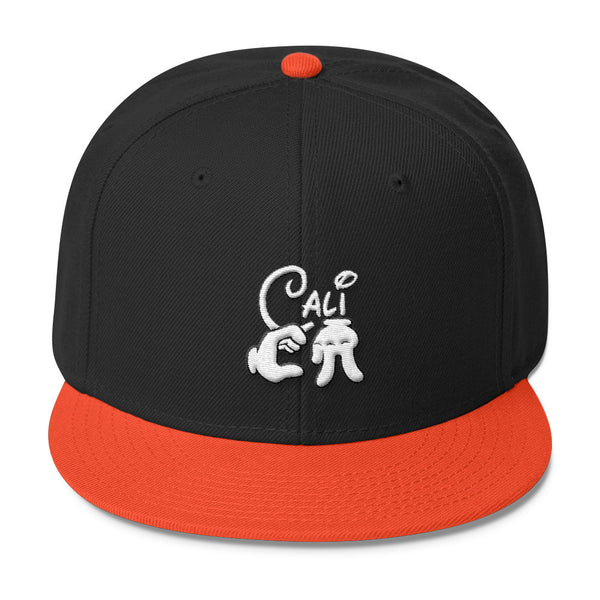 Cali Cartoon Hands Wool Blend Snapback