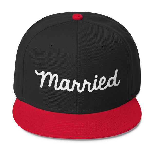 Just Married ( Married) Wool Blend Snapback
