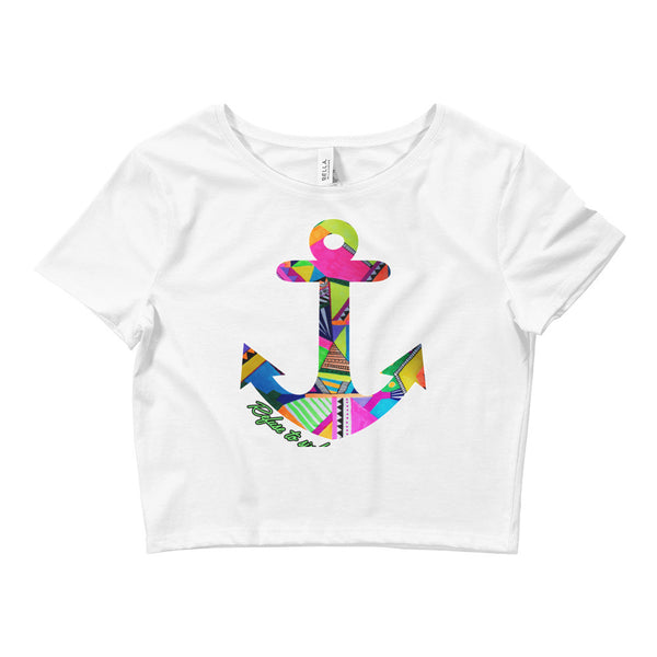 anchor Refuse To Sink Flora Women's Crop Tee