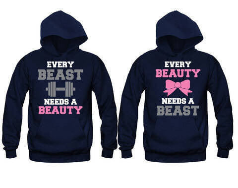 Every Beast Needs A Beauty - Every Beauty Needs A Beast - Unisex Couple Matching Hoodies