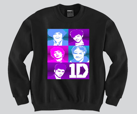1D Big Faces Unisex Crewneck Funny and Music