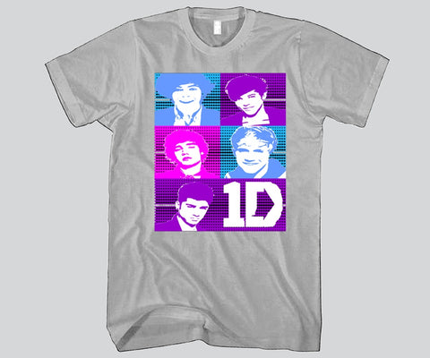 1D Big Faces Unisex T-shirt Funny and Music