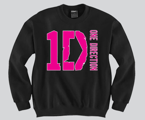 1D Pink Print Unisex Crewneck Funny and Music