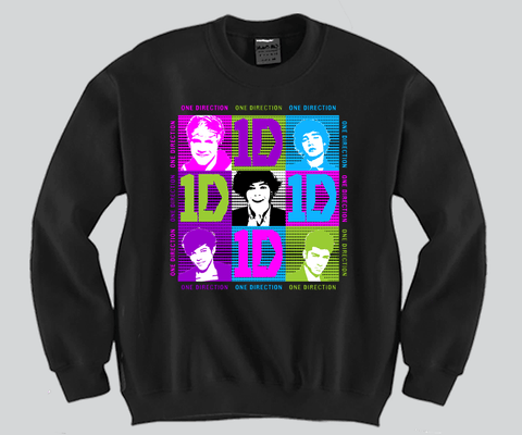 1D Small Faces Unisex Crewneck Funny and Music