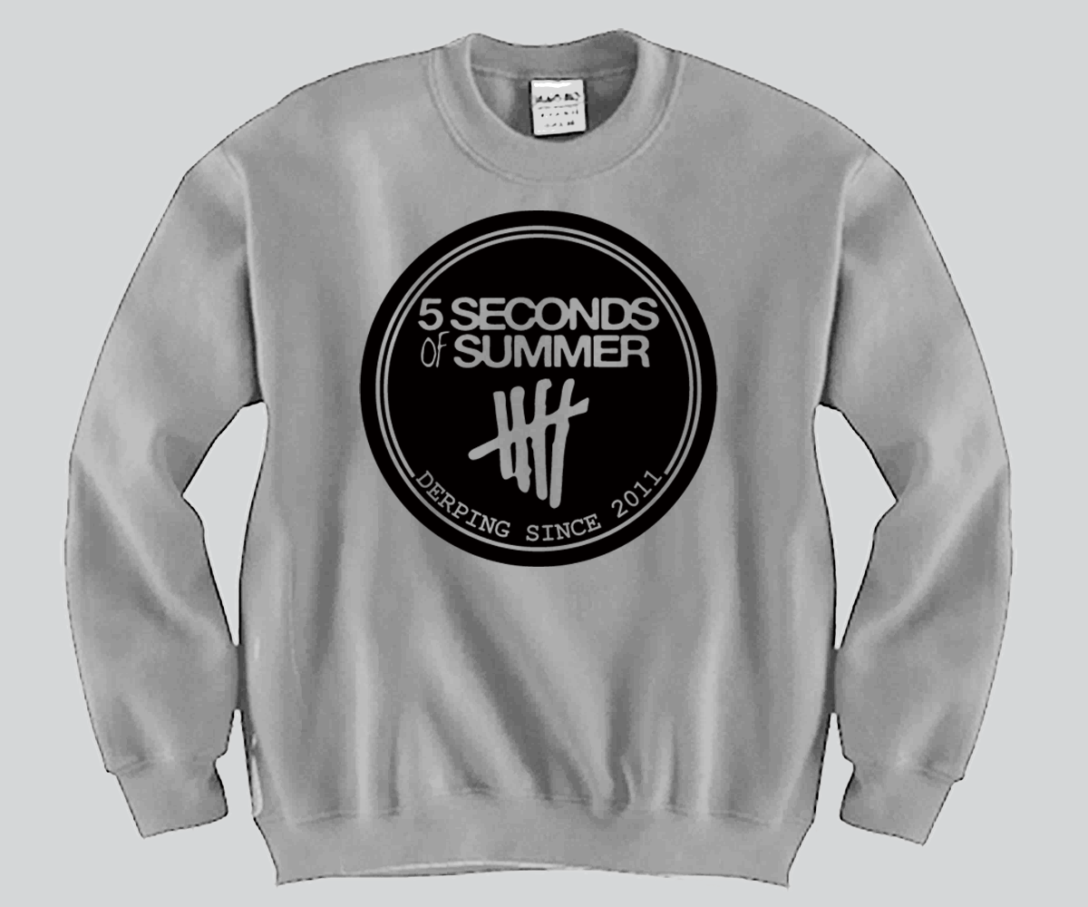 3ae12db0e37 5 Second Of Summer Derping Since 2011 Unisex Crewneck Funny and Music