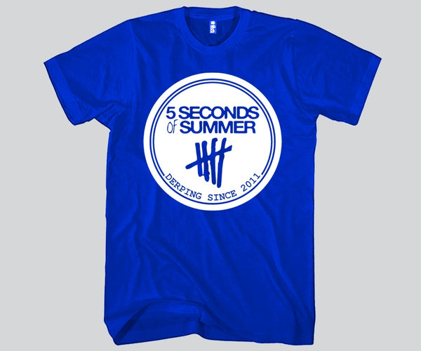 5 Second Of Summer Derping Since 2011 Unisex T-shirt Funny and Music
