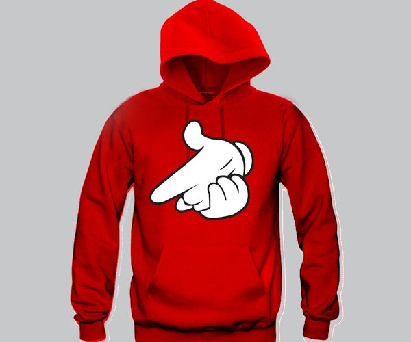 Air Gun Mickey Hands Unisex Hooded Sweatshirt Funny and Music