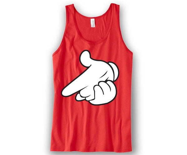 AirGun Mickey Hands Unisex Tank Top Funny and Music