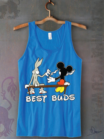 Best Buds Unisex Tank Top Funny and Music