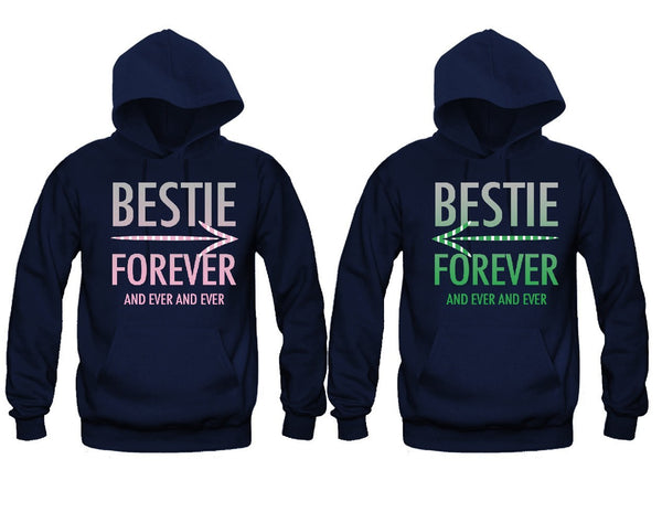 Bestie Forever and Ever and Ever Girl BFFS Hoodies