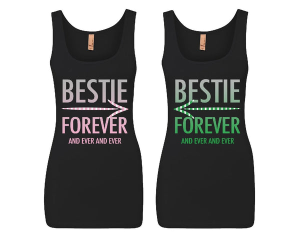 Bestie Forever and Ever and Ever Girl BFFS Jersey Tank Tops